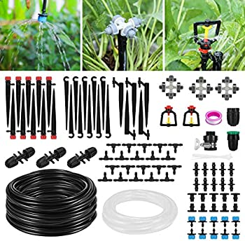 Homga Automatic Garden Irrigation System with Extra 10ft Main Line