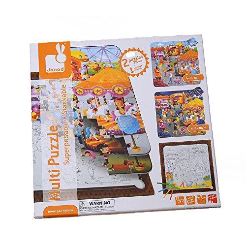 Janod - J02826 - Multi Puzzle Fête Foraine