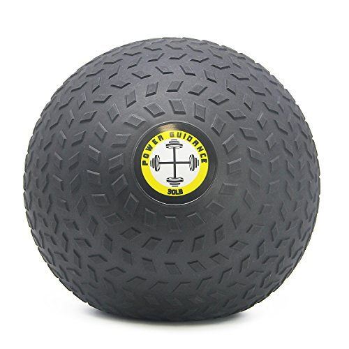 POWER GUIDANCE Slam Ball, Medicine Ball, Weight Available: 6, 8, 10, 15, 20, 25, 30 Lbs, Great for Core Training & Cardio Workouts (30)