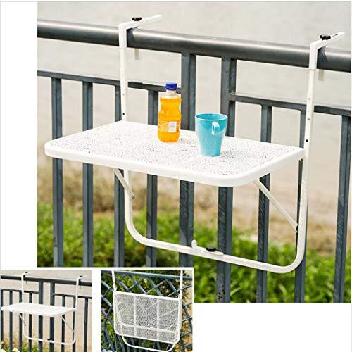 Balcon Suspendu, Table à Fleurs, Table Basse Simple Pliante en Fer, Bureau, Table de Bar Murale, Table Murale réglable en Hauteur