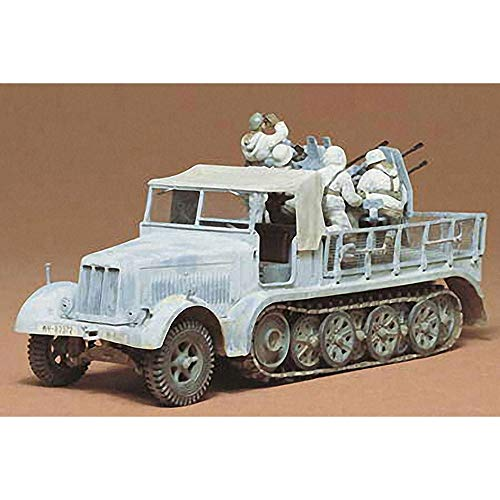 タミヤ 1/35 ミリタリーミニチュアシリーズ No.50 ドイツ陸軍 8トンハーフトラック 4連高射砲搭載 プラモデ...