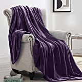 Suchtale Fleece Blanket (King Size 108x90 Purple) Plush Fuzzy Lightweight Throw, Super Soft Microfiber Flannel Nap Blankets for Couch, Bed, Sofa Ultra Luxurious Warm and Cozy for All Seasons