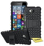 Microsoft Lumia 650 Handy Tasche, FoneExpert® Hülle Abdeckung Cover schutzhülle Tough Strong Rugged Shock Proof Heavy Duty Case für Microsoft Lumia 650 + Bildschirmschutzfolie (Schwarz)