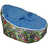 BayB Brand Bean Bag for Babies and Toddlers - Filled and Ready for Use (Blue/Multi)