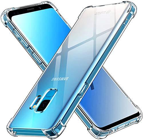 ivoler Funda para Samsung Galaxy S9, Carcasa Protectora Antigolpes Transparente con Cojín Esquina Parachoques, Suave TPU Silicona Caso Delgada Anti-Choques Case