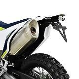 Kennzeichenhalter HUSQVARNA 701 SM Bj. 16-18 verstellbar schwarz inkl. Reflektorhalter Motorrad...