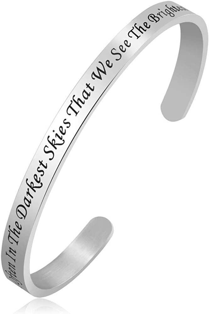 Infinite Memories Cuff Bracelets Bangles with Encouragement Inspirational Quotes for Women Sister Friend Gifts
