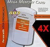 Sega Dreamcast MEGA MEMORY CARD 4X - 800 Blocks of Storage