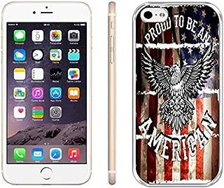 iPhone 6 Plus Case,US Flag iPhone 6S Plus Case,iPhone 6S Plus Back Shell Case TPU Transparent Protective iPhone 6 Plus Case,Proud American Hard Case for iPhone 6 Plus/6S Plus