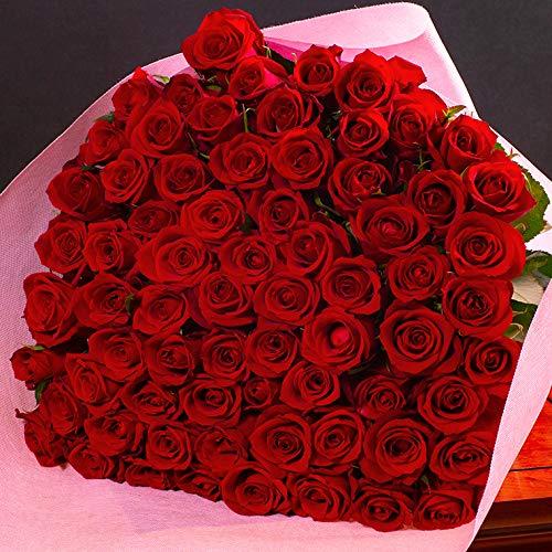 バラギフト専門店のマミーローズ 選べるバラ本数セレクト 還暦祝い 誕生日 プロポーズ 贈り物の豪華なバラの花束(生花) 赤 70本