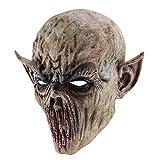 3D-Halloween-Effekt-Gesichtsmaske, Kopf und Hals aus Dracula-Latex, Kopfbedeckung ohne Mundhauch-Horror, gruselige Requisiten Kostümparty