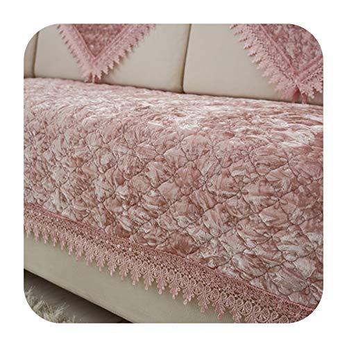 KASHINO Cojín de sofá de felpa antideslizante para verano europeo, cojín universal para cuatro estaciones, funda completa para sofá J-70x210 cm