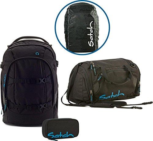 Satch Schulrucksack-Set 4-TLG Pack Black Bounce schwarz