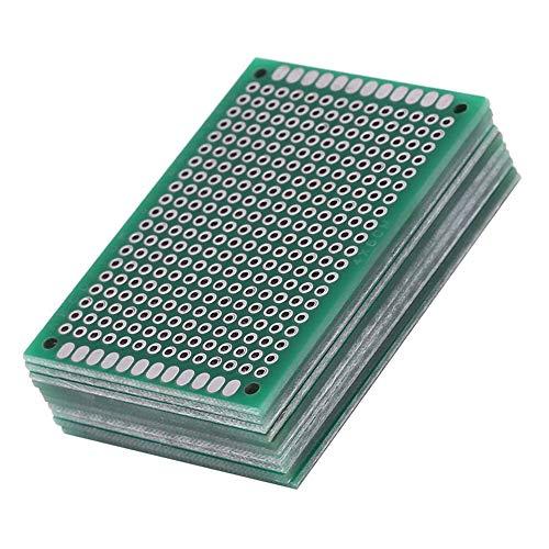 10Stk leiterplatte Kit PCB Universal Board 5x7 CM Double Side Lochrasterplatte Lochrasterplatine Leiterplatte Platine Doppelseitig PCB Board Prototype Lochrasterplatte Kit