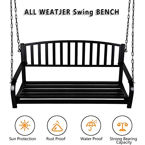 Hanging Bench Swing Outdoor - 2 Person Front...