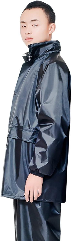 Raincoat Rain Pants Suit Single Riding Electric Car Split Raincoat (color   Black, Size   XXXL)