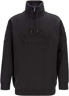 Hugo Boss Sweatshirt with Curved Logo Salboa 50410352 001 Black