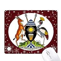 ウガンダアフリカ国家エンブレム オフィス用雪ゴムマウスパッド