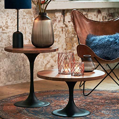 Light & Living Bijzettafel Ø50x55 cm BIBOCA acacia hout-zwart