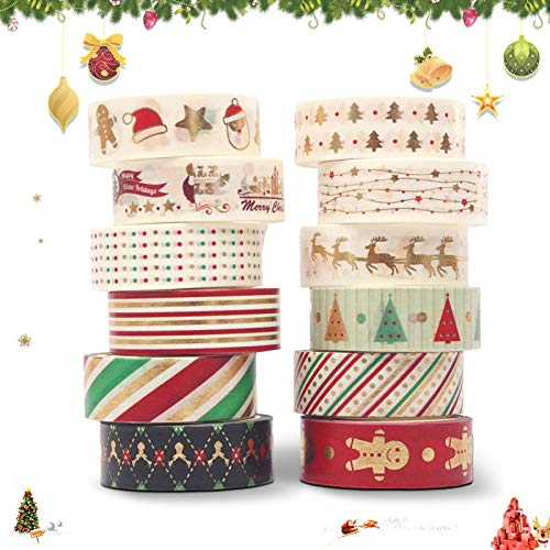 Sunshine smile Masking Tape Weihnachten,Scrapbooking DIY weihnach,dekoratives Klebeband Weihnachten,Scrapbooking Papier Christmas,Klebeband bunt Weihnachten,Scrapbook deko,Scrapbooking Papier