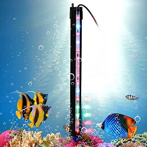 Pssopp LED Aquarium Licht Unterwasser RGB Multicolor LED Lichter wasserdichte Unterwasser Aquarium Licht für Aquarium Wohnzimmer Restaurant Hotel(35cm)