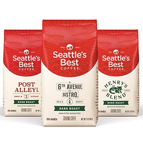 Seattle's Best Coffee Variety Pack Dark, Dark, 12 Ounce (Pack of 3)