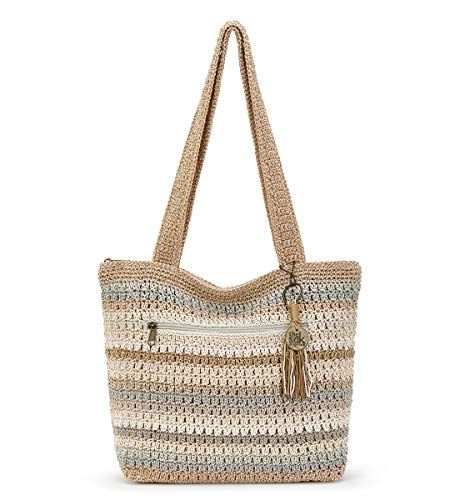 The Sak Riviera - Bolso de ganchillo, Terra Stripe, Talla unica