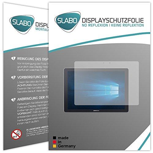 Slabo 2 x Bildschirmschutzfolie kompatibel mit Samsung Galaxy TabPro S Bildschirmschutz Schutzfolie Folie No Reflexion | Keine Reflektion MATT