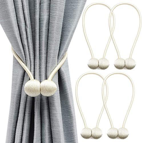 Keetech Alzapaños magnéticos para cortinas, alzapaños decorativos, para casa, salón,