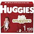 Baby Diapers Size 1, 198 Ct, Huggies Little Snugglers from Kimberly-Clark Corp.