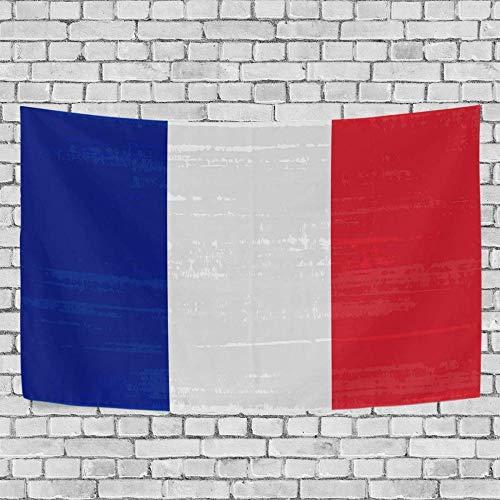 JXZIARON Tapiz Art Paño para Colgar en la Pared Impresión HD Cocina Dormitorio Sala de Estar Decoración,Fondo Exclusivo de Bandera Nacional Francesa para 60x40 Pulgadas