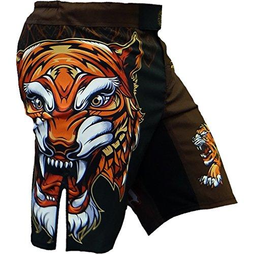 Hardcore Training Tiger Fight Shorts Hombre Pantalones Cortos MMA BJJ Boxeo Grappling...