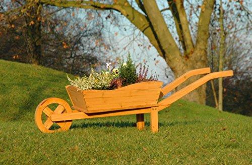 dobar 29195FSC Pflanzschubkarre, Braun, 107 x 32 x 41 cm