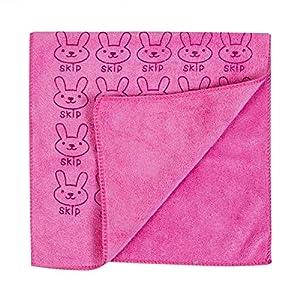 Toallas de baño 5PS Niños Franela Suave Toallas Historieta Conejo Imprimir Manta Toalla Baño Traje Baño Toallita Bebé, Toallones (Color : Pink)