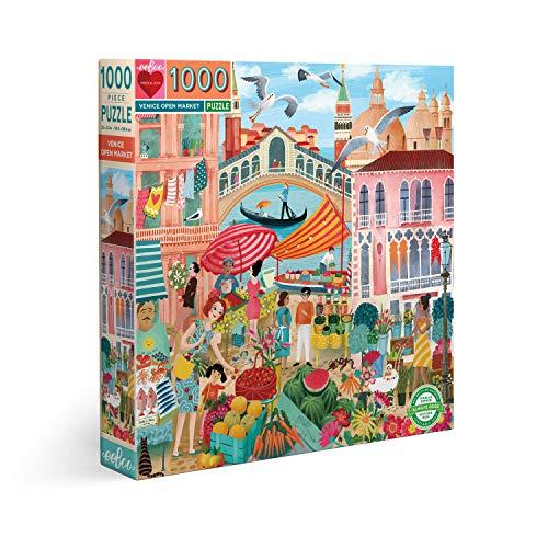 Eeboo Venice Open Market Puzzle de 1000 piezas
