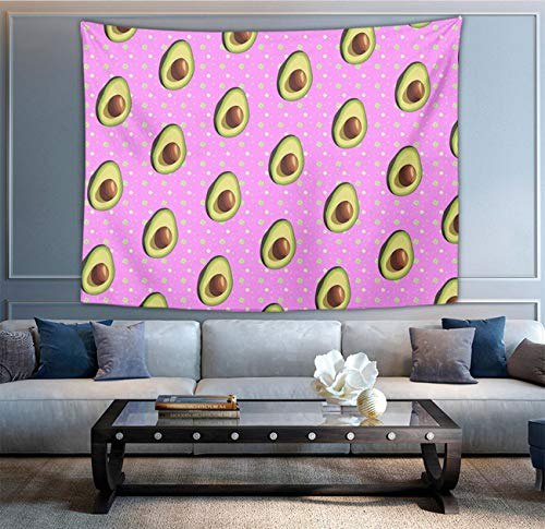 NiYoung Wall Hanging Queen Tapestries, Boho Hippie Hippy Bedding Tapestry, Indian Wall Decor, Avocado Pattern Pink, Kids Girls Boys Room Hippie Tapestry