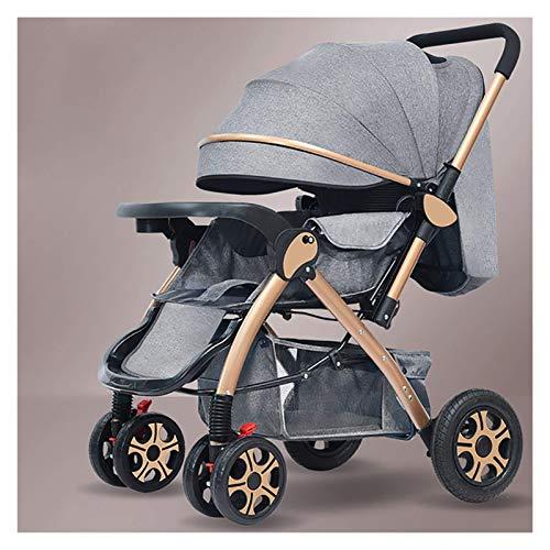 Cochecito de bebé multifuncional 2 en 1 Cochecito de cebolleto reversible convertible en 1 de alto paisaje para bebés y niños pequeños, silla de aleación de aluminio plegable con respaldo ajustable (c