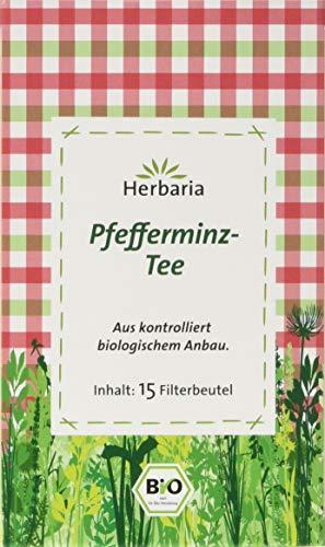 Herbaria Pfefferminz-Tee 15FB , 1er Pack (1 x 30 g Beutel) - Bio
