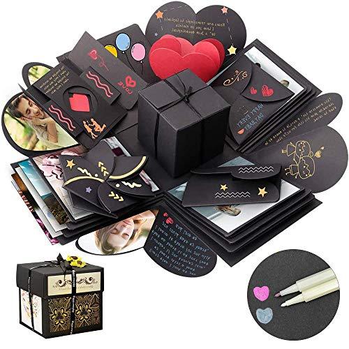 Linlook Explosion Box - Geschenk Box, Kreative Überraschung Box DIY Fotoalbum für Weihnachten, Valentine, Jahrestag, Geburtstag, Hochzeit, Muttertag und Heiratsantrag