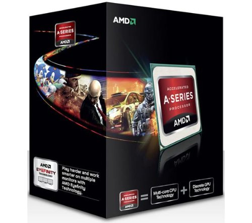 AMD A Series A6–5400K 3,6GHz 1MB L2Box Prozessor–Prozessoren (AMD A6, 3,6GHz, Sockel FM2, PC, 32Nm, A6–5400K)