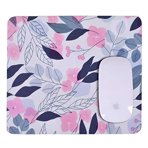 Unique Rectangle Mouse Pad with Non Slip Rubber Base, Comfortable Computer Mouse Pad for Laptop, Pain Relief Mousepad for Office & Home, 8 x 7 inches (Cherry Blossom)