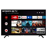 SKYWORTH E20300 40' INCH 1080P LED A53 Quad-CORE Android TV Smart 40E20300 with Voice Control Smart Remote, 1mm Thin Bezel, and Android Operating System