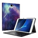 Fintie Tastatur Hülle für Samsung Galaxy Tab A 10,1 Zoll 2016 T580N/ T585N Tablet - Ultradünn leicht Schutzhülle mit magnetisch Abnehmbarer Drahtloser Deutscher Bluetooth Tastatur, DieGalaxie