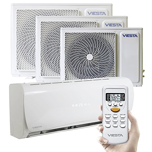 Viesta Klimaanlagen energiesparende Klima Splitgeräte - Timer- und Entfeuchter-Funktion - angenehm leise - bis 24000 BTU für Räume bis 85qm - weiß, Modell:AC18 (18000 BTU)