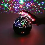 Proiettore cielo stellato,Proiettore stellare migliorato Lampada a luce notturna a LED romantica a 360 gradi con timer spento cambio colore per arredamento camera da letto per bambini Regalo di Natale