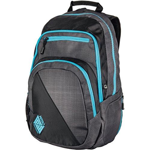 Nitro Stash Rucksack Schulrucksack Schoolbag Daypack Damenrucksack Schultasche schöne Rucksäcke Alltag Fahrradtasche, Blur Blue Trims, 29L