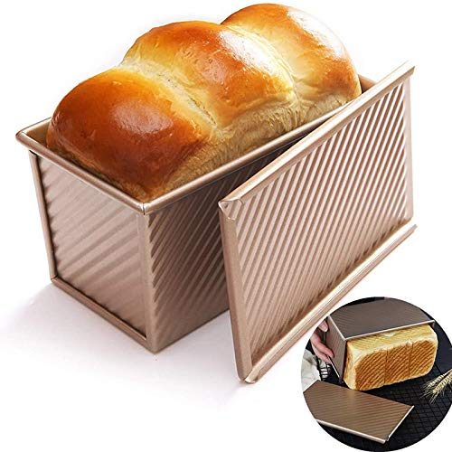 SHEUIMUIYA Loaf Pan with Lid Non-Stick Bakeware Carbon Steel Bread Toast Mold with Cover for Baking Bread