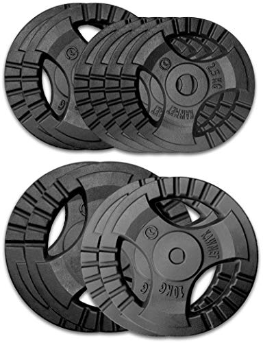 Gusseisen Hantelscheiben 80 kg Set - 2x20kg, 2x10kg, 2x5kg, 4x2.5kg 30,5 mm KAWMET