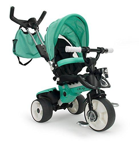 INJUSA - Triciclo City MAX Evolutivo Color Verde, 21 x 10 x 5 cm (3270)