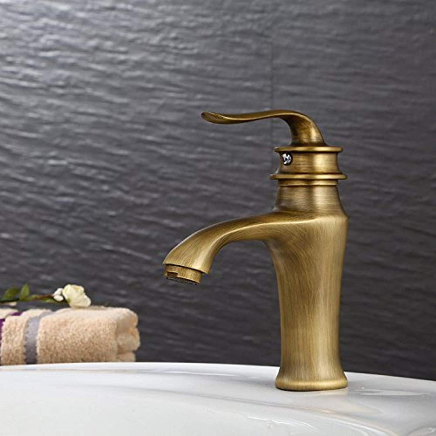 360° redating Faucet Retro Faucetbathroom Antique Basin Faucet Green Bronze Brushed Hot and Cold High Quality Faucet